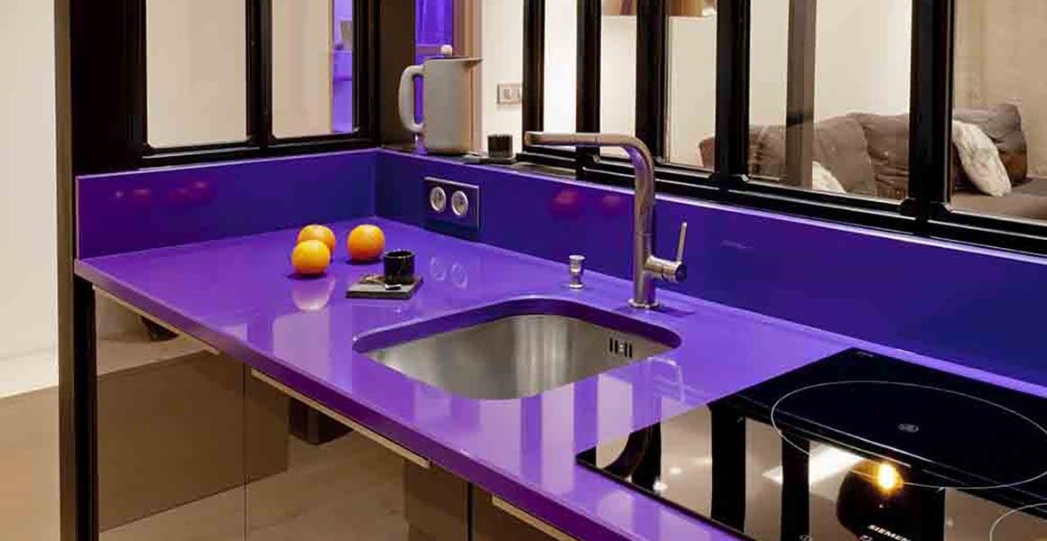 cuisine violette noire